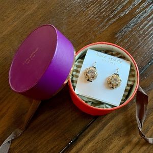 Kate Spade Gold Rinestone Earrings